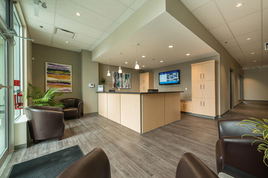 Coastal Offices Lobby. Ready to help you rent a boardroom, office, or meeting room.